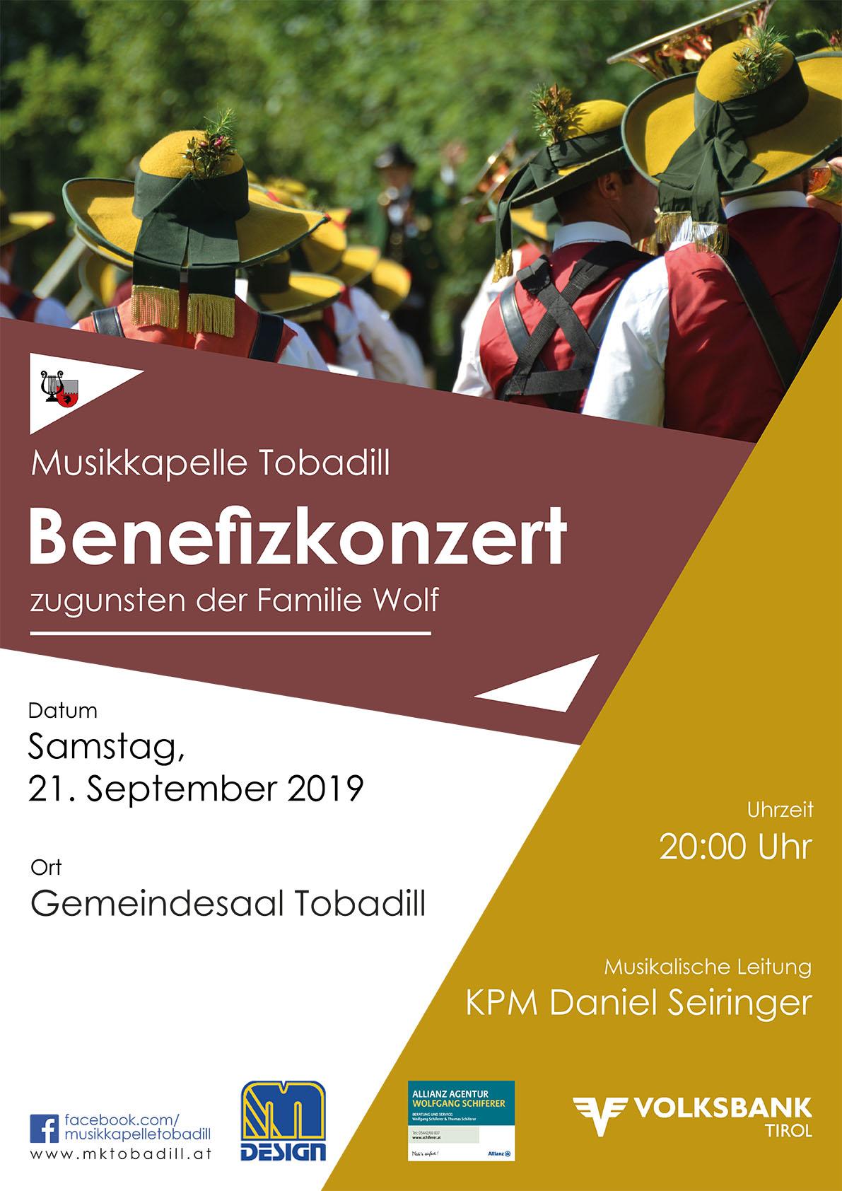Benefizkonzert @ Gemeindesaal Tobadill | Tobadill | Tirol | Österreich