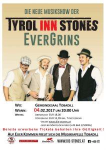 Tyrol Inn Stones - EverGrins @ Gemeindesaal Tobadill | Tobadill | Tirol | Österreich